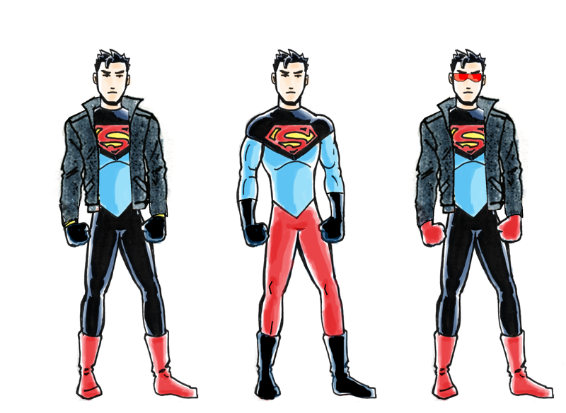 DC2 Superboy sketches by herrenmedia