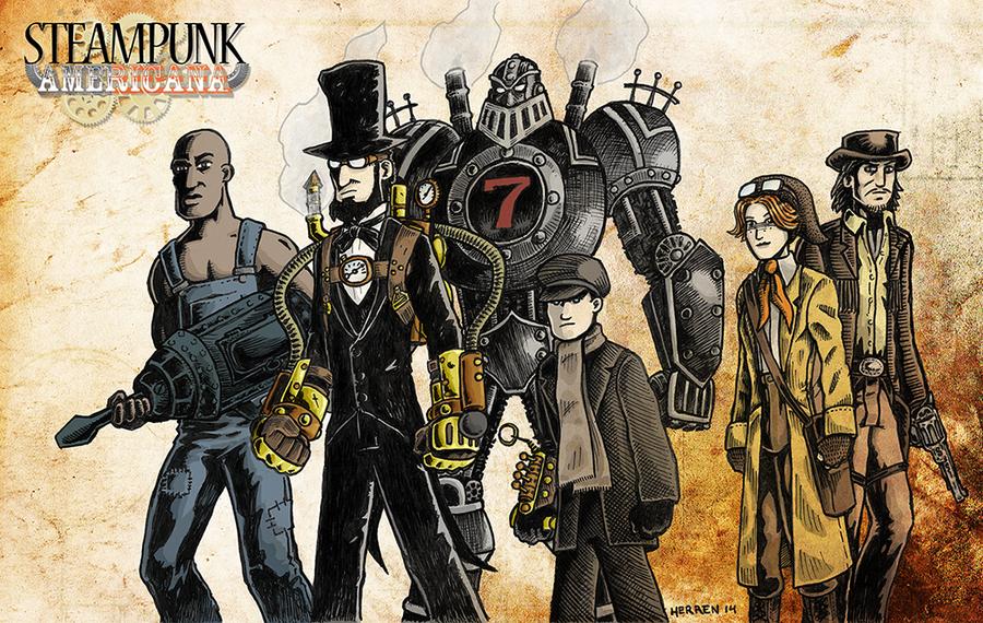 Steampunk Americana by herrenmedia