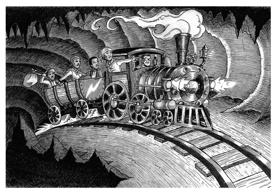 Steampunk Lincoln and the Underground Railroad by herrenmedia