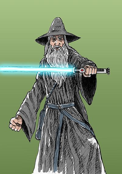 Jedi Master Gandalf by herrenmedia