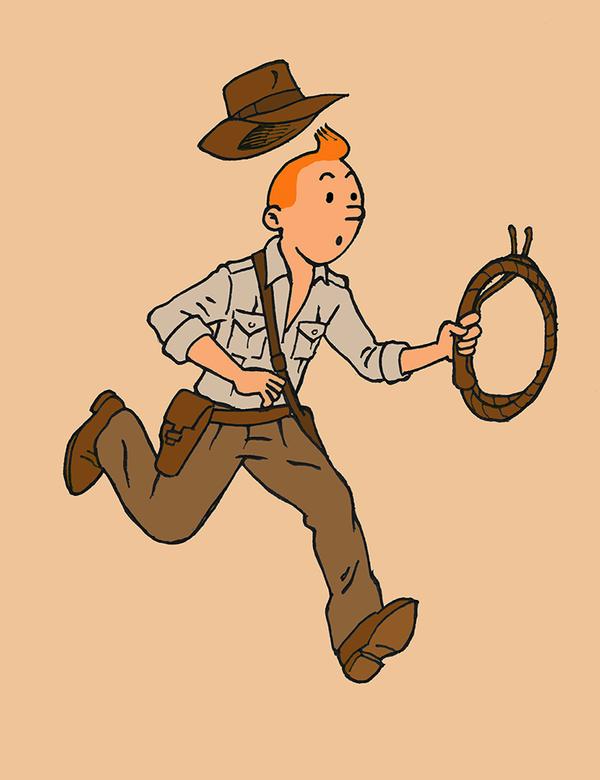 Tintin - Indiana Jones by herrenmedia