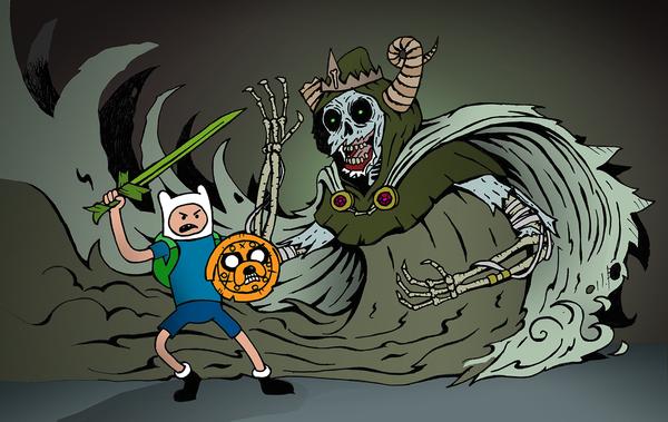 Finn vs The Lich by herrenmedia