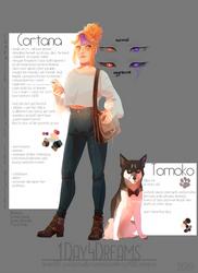 Character Design: Cortana and Tomoko // 2019 //