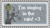 I'm singing in the rain stamp by B-S-A