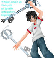 danny and his keyblade by lovesoraxx