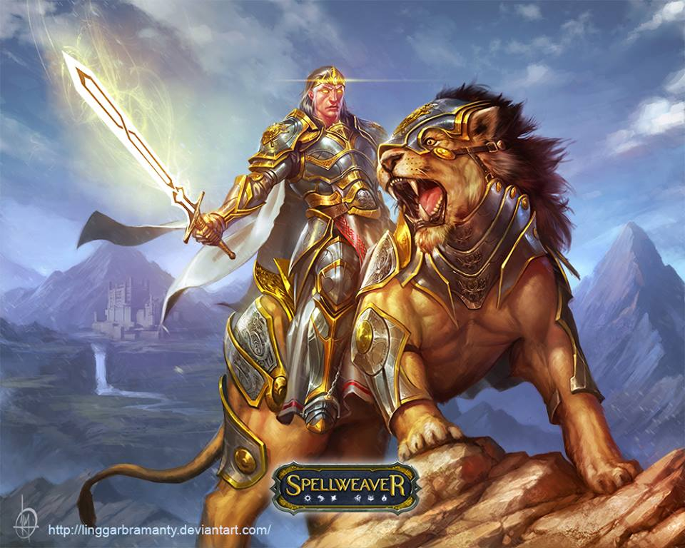 Lion Knight by linggarbramanty