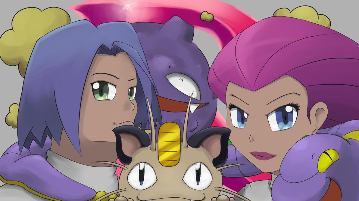 Team Rocket~happy pokemon movie 20 years by jewelpetgarnet