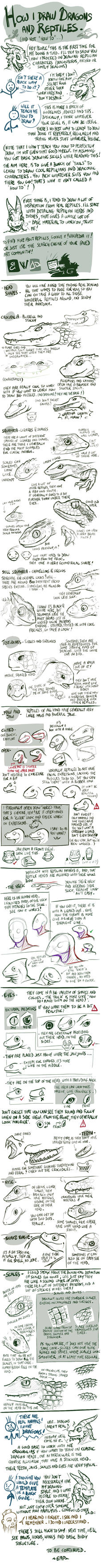Tuto - How I draw reptiles/dragons - Part 1 by EMP-83