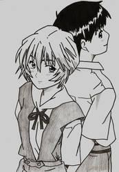 Rei And Shinji by Hakaiisha