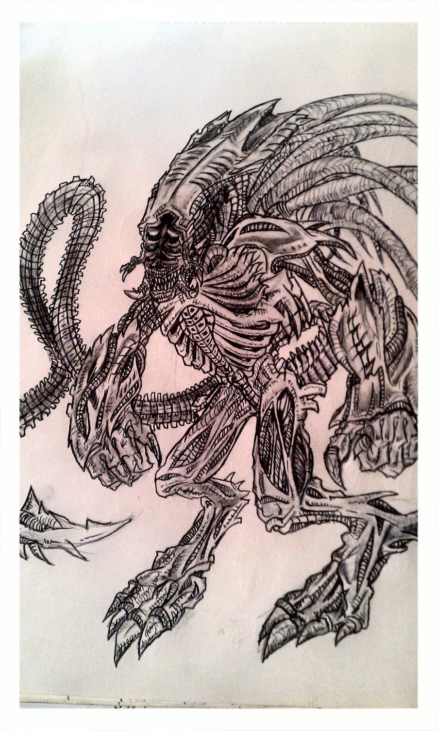 aliens vs predator drawings - photo #38