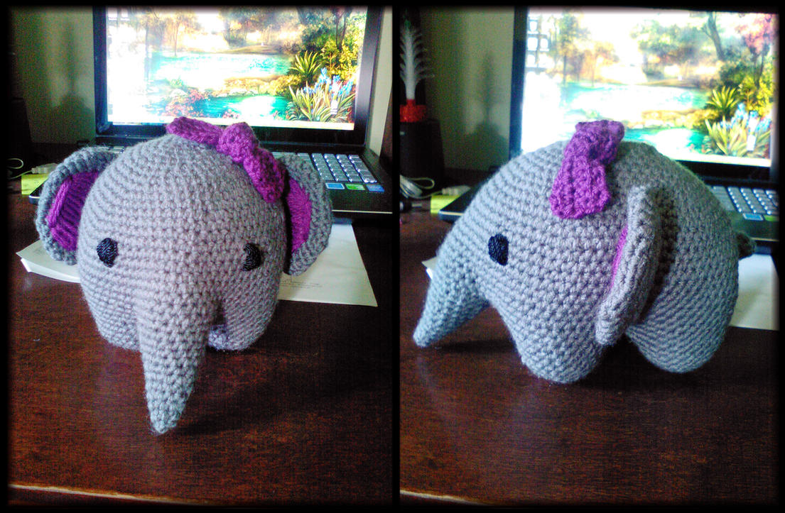 Ellie the Amigurumi Elephant by MeaganEmerson