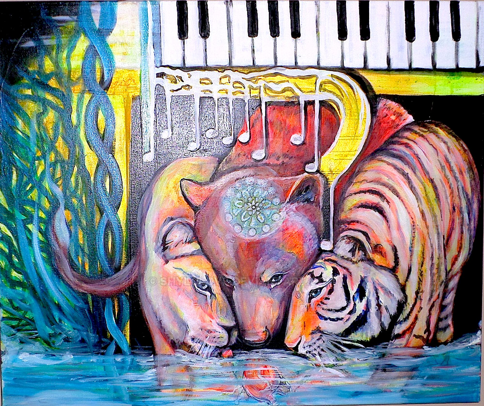 Lioness Bear Tiger-Emotional Heart Mind Cymatics by ShyloLove