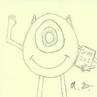 Mike Wazowski Sketch
