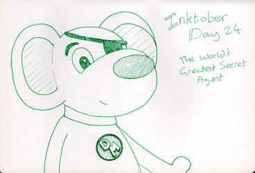 Inktober Day 24 -The World's Greatest Secret Agent