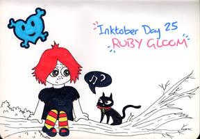 Inktober Day 25 - Ruby Gloom (and Doom Kitty)