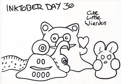Inktober Day 30 - Cute Little Wierdos