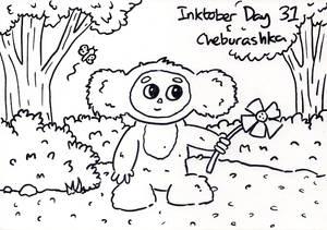 Inktober Day 31 - Cheburashka