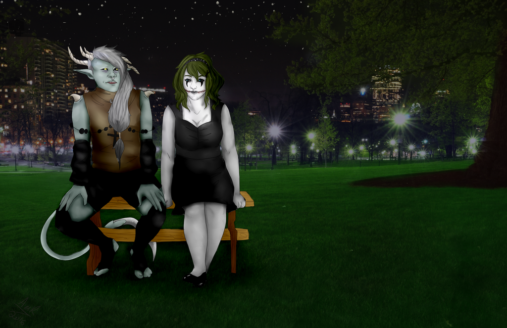 Night In The Park by Qu-Ross