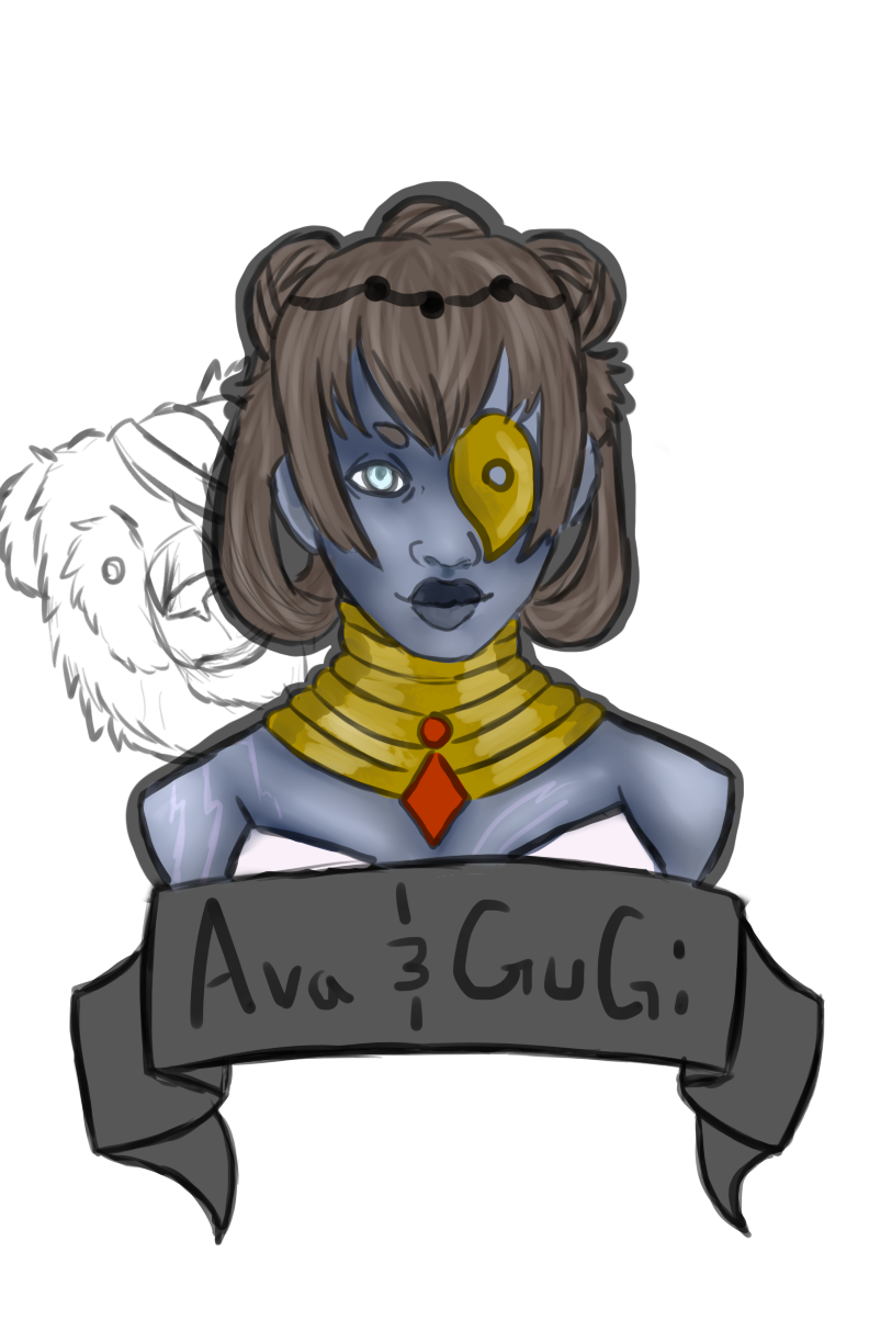 Ava and GuGi bust by Qu-Ross