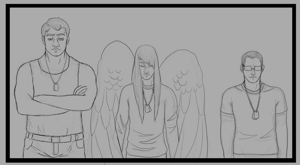 Sad lineup WIP by Qu-Ross
