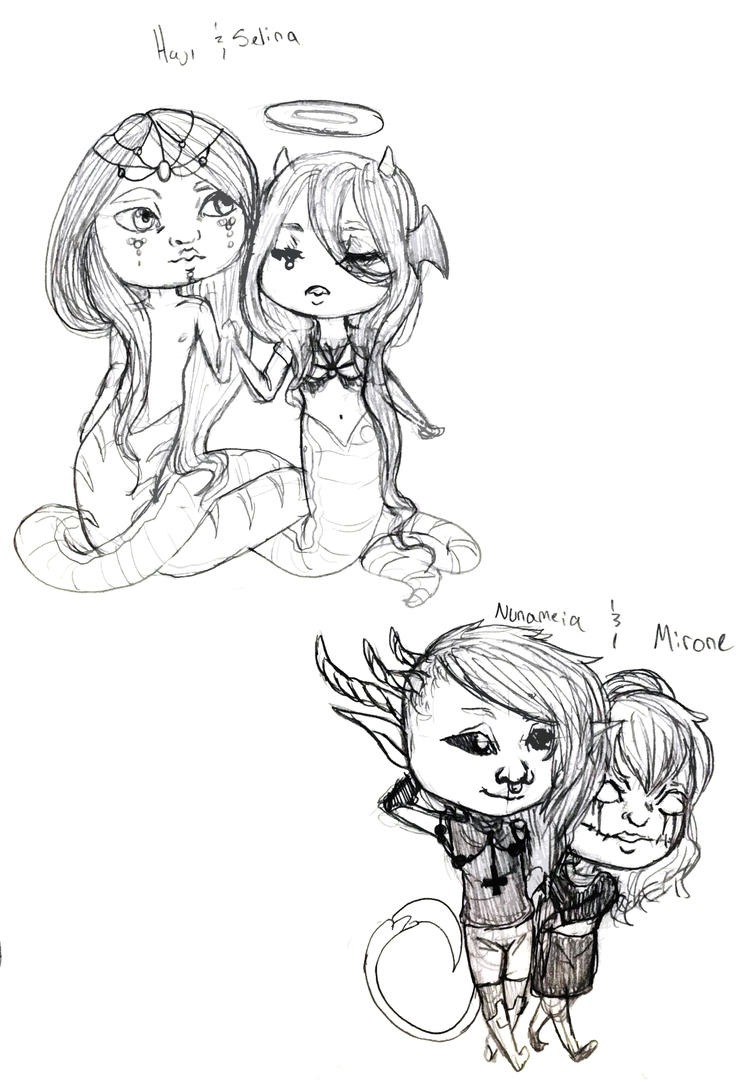 Couple chibis ~ 2 by Qu-Ross