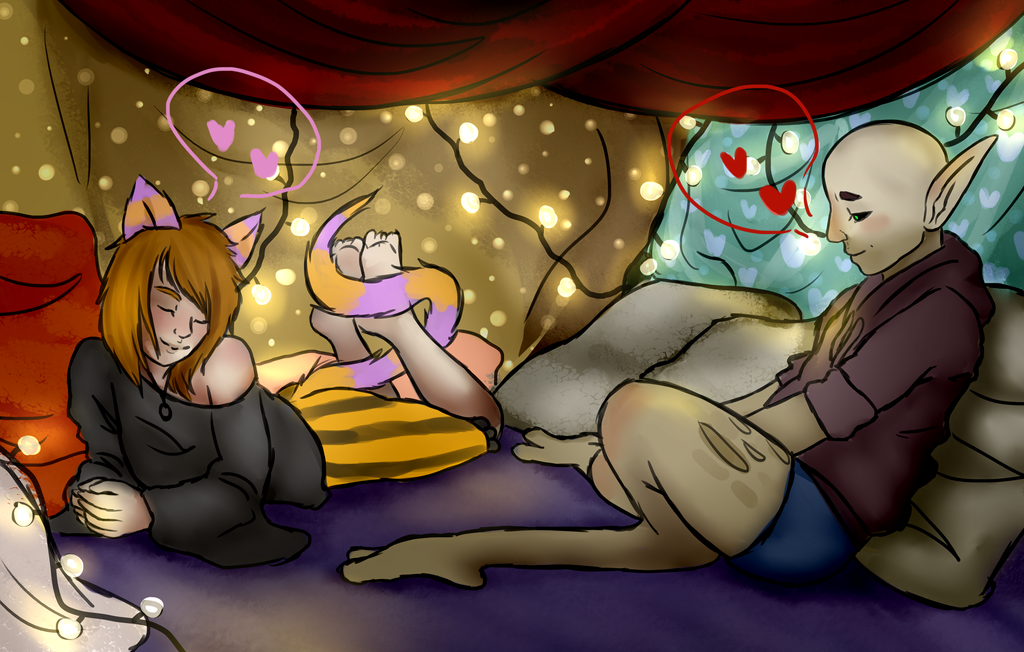 Blanket Fort  - no gif by Qu-Ross