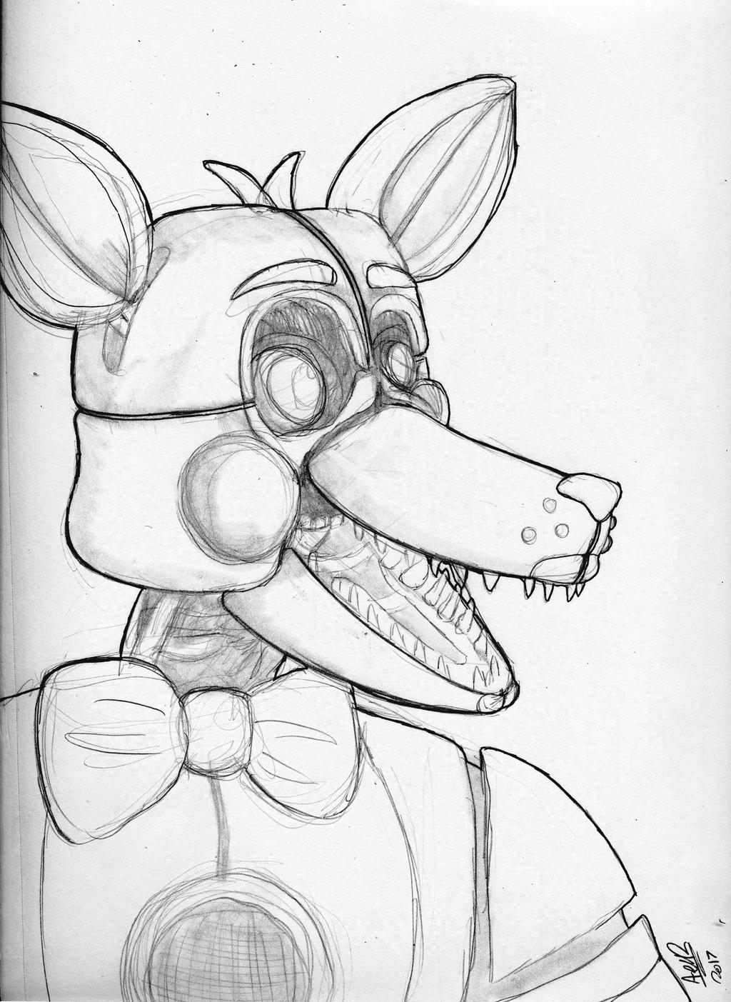 Funtime Foxy Sketch by Qu-Ross