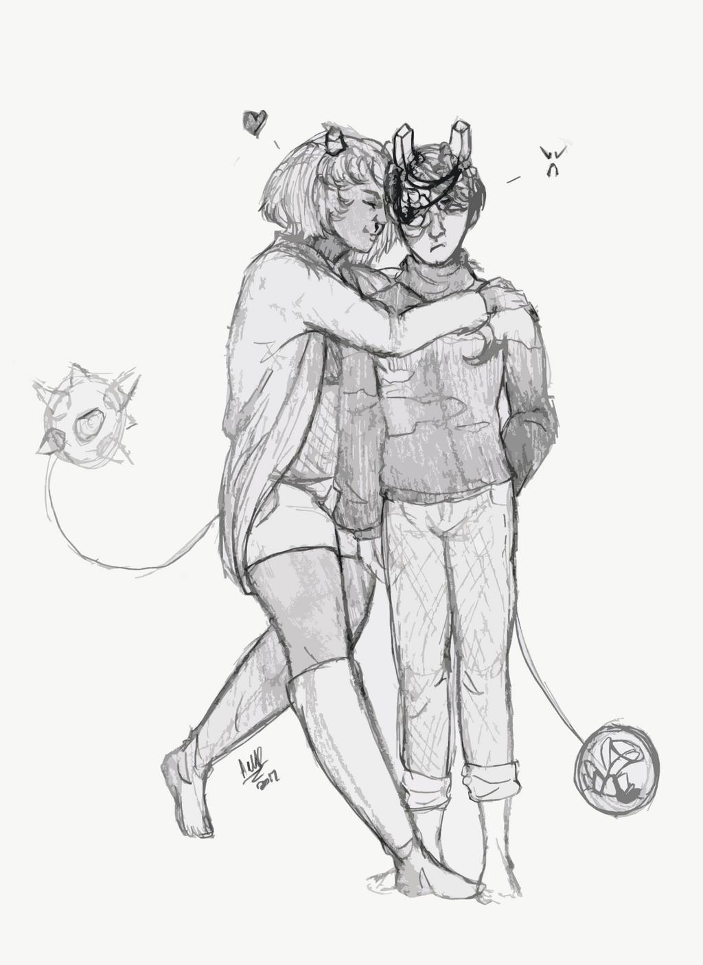 Small Hugs by Qu-Ross