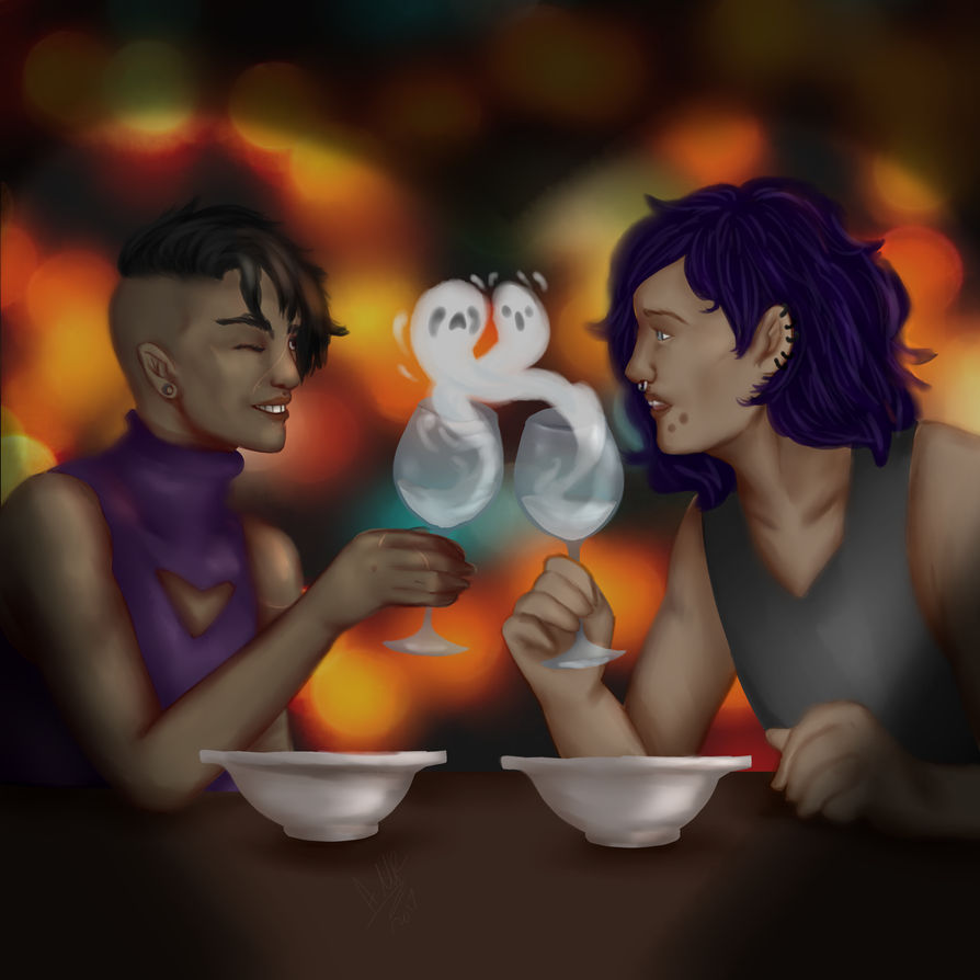 Dinner Date by Qu-Ross