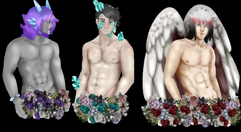 [YCH] Flower Boys ~ keke by Qu-Ross