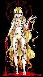 Bloody Girl Pixel by Qu-Ross