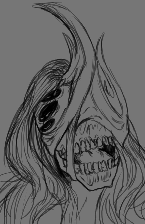 Bust Sketch ~ MrPurpleDork by Qu-Ross