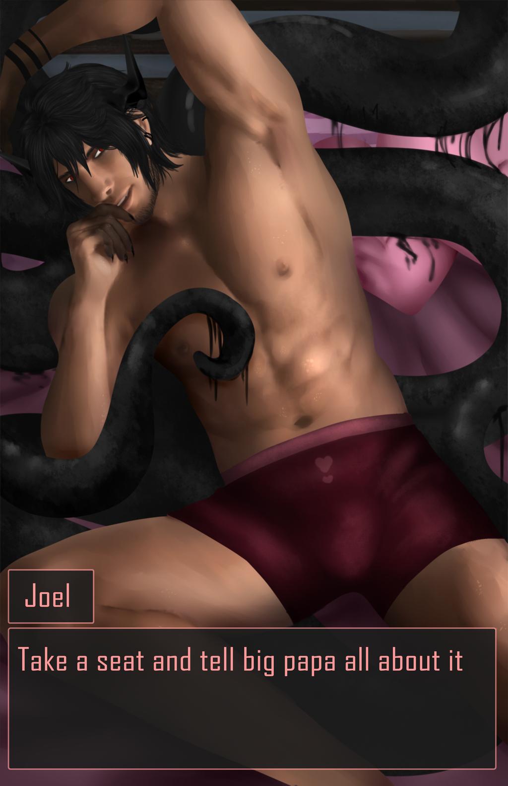 Dating Sim Valentines Joel by Qu-Ross