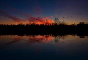 Red Skies at Dawn by Nini1965