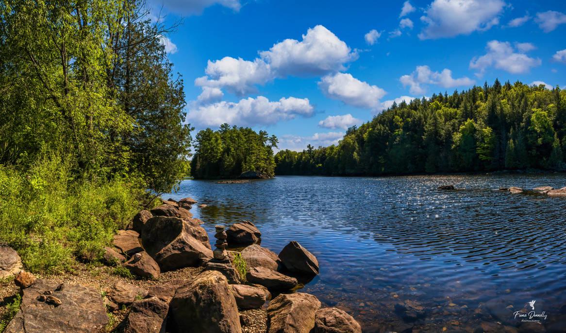 Rocky Shoreline of a River, Eastern Ontario