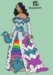 Zodiac costume Aquarius woman