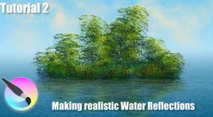 Krita - Making realistic Water Reflection