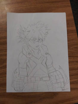 My Hero Academia Katsuki Bakugou Drawing