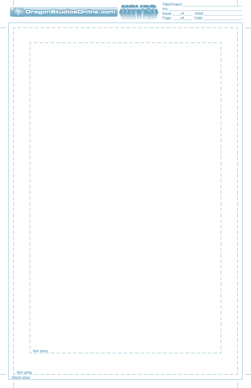 Comic Templates - Single Page by dragonstudiosonline