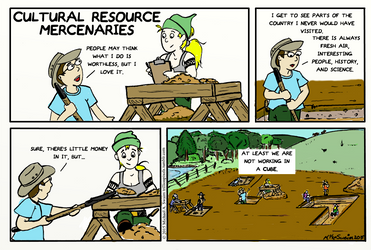 Cultural Resource Mercenaries Comic by TrillionPixels