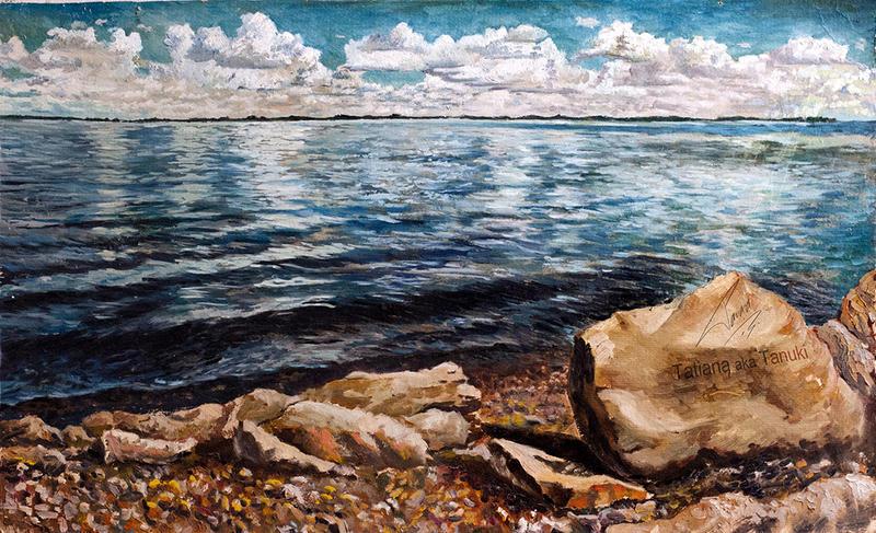 Russian old river Volga by TatianaLarina