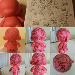 munny painting process  by Queensone