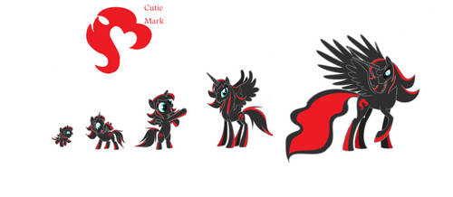 Marias Pony Form Baby Filly to Adult Alicorn ~ by SamanthaWolfox