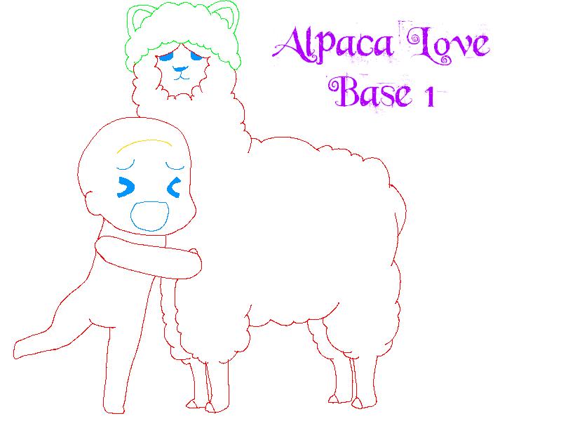 Hug an Alpaca Base by BlackRosePixels on DeviantArt
