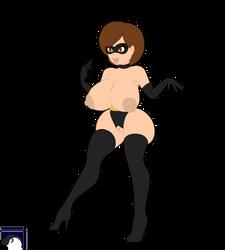 Fan Art - Elastigirl Nude by DL-95