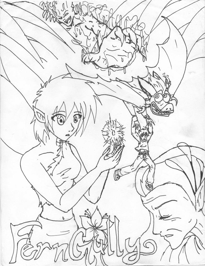 fern gully crysta coloring pages - photo#3