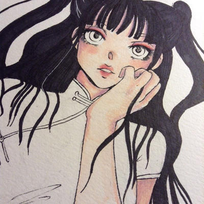 Black Hair WIP by iLAUGHatEVERYTHING