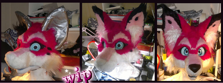 Fursuit head wip 4 by OnJedone