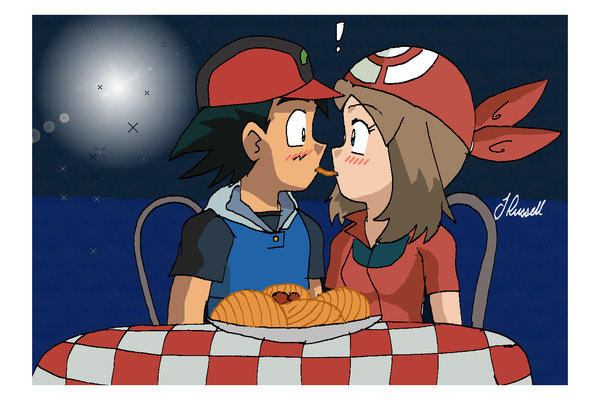 Pokemon ash and may kiss episode 357