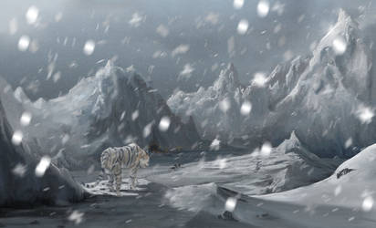 Snow Scene by Bactaboy